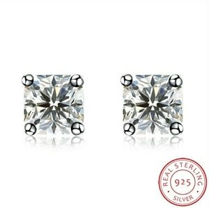 Jewelry - EXQUISITE NEW STUD EARRINGS .925 STERLING & CZ